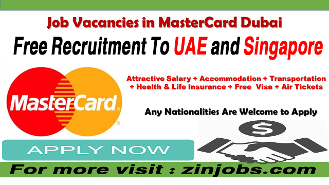 Latest Mastercard Jobs In Uae Singapore Http Jobiclub