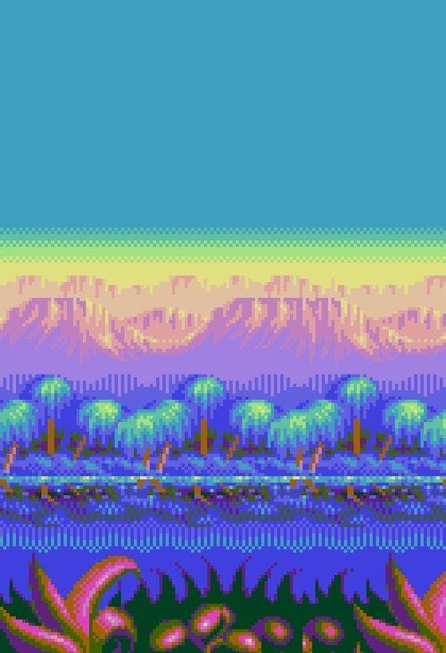 Pixel landscape | ツ asdfg ツ | Pinterest | Pixel art ...