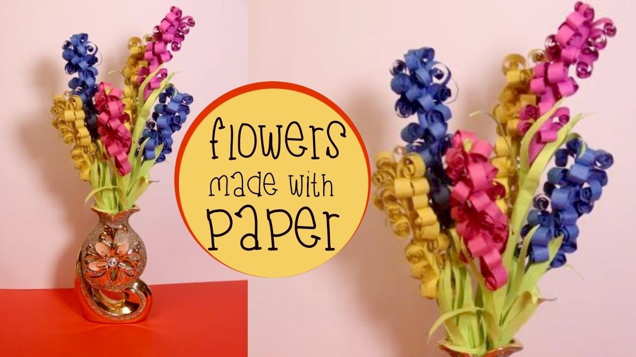 Diy flowers made with paper flower crafts lavender flowers and diy flowers made with paper mightylinksfo