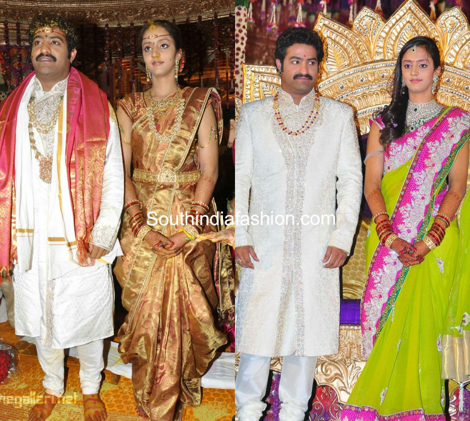 Jr Ntr Wedding Images With Images Celebrity Weddings India Fashion Indian Women