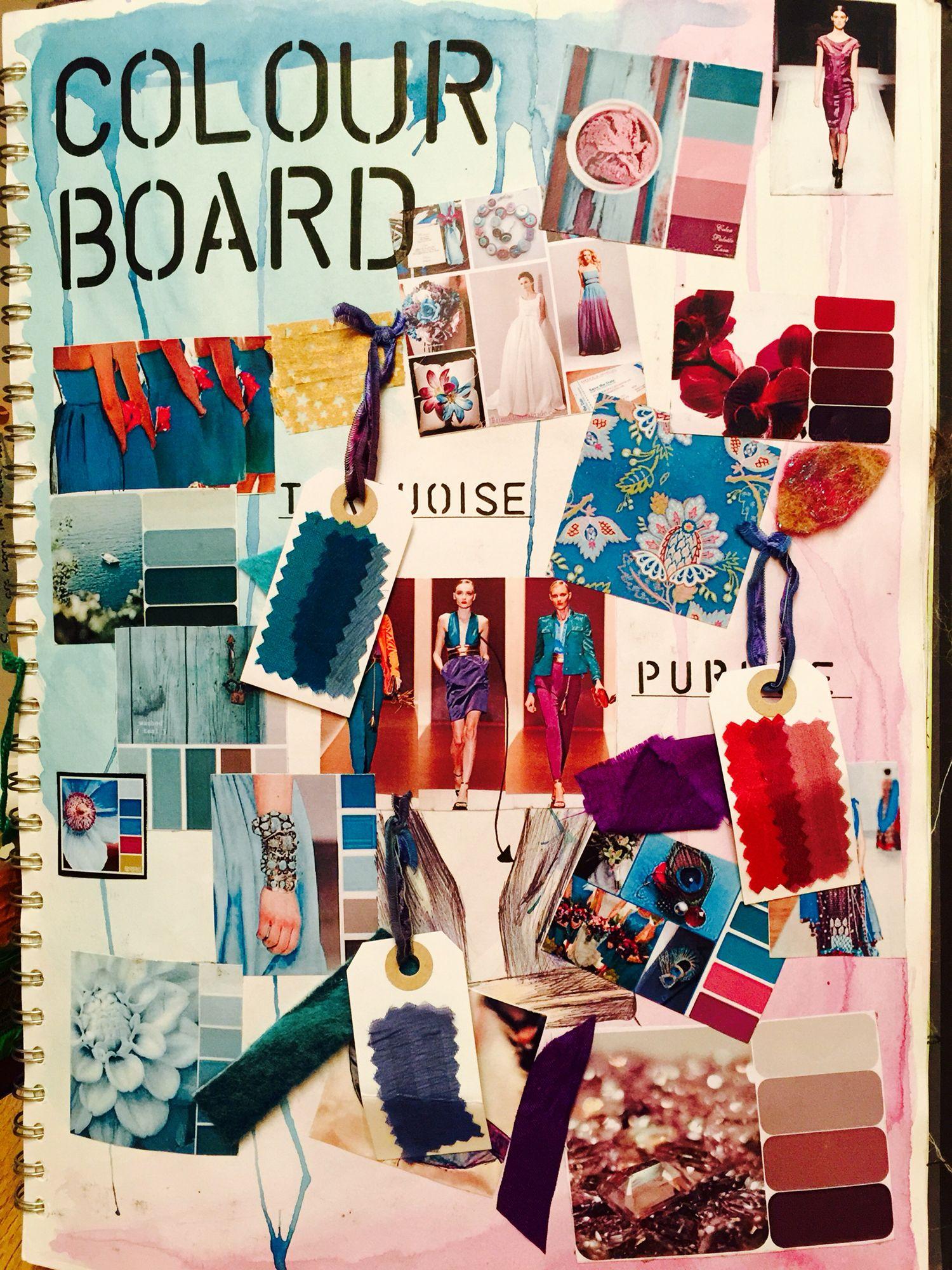 Colour board. A mood board investigating a chosen colour ...