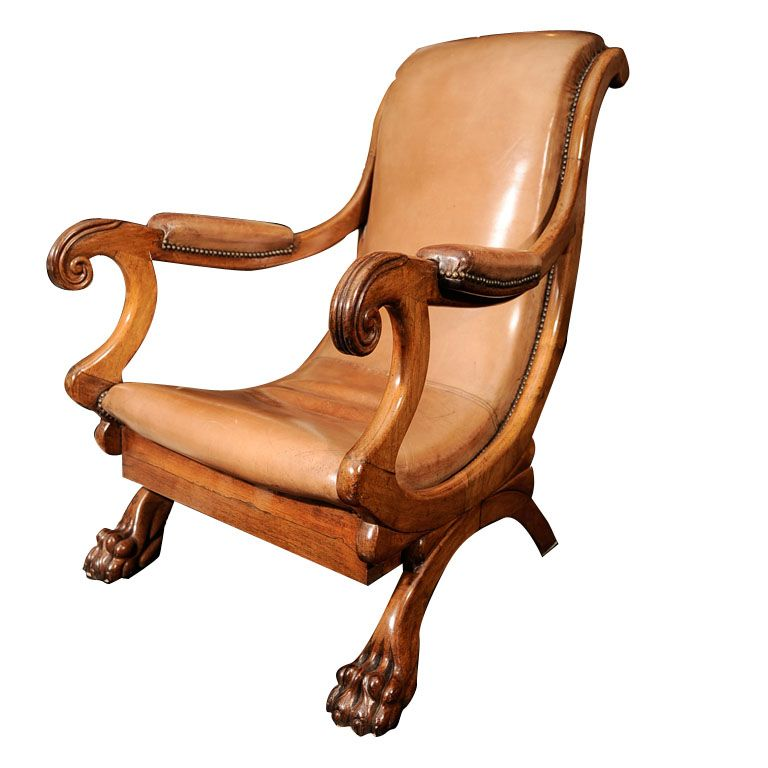 19th Century English Rosewood Library Reading Chair | From a unique collection of antique and modern armchairs at http://www.1stdibs.com/furniture/seating/armchairs/
