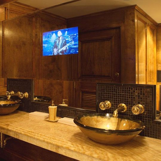 Charmant Bathroom Mirrors With Built In TVs