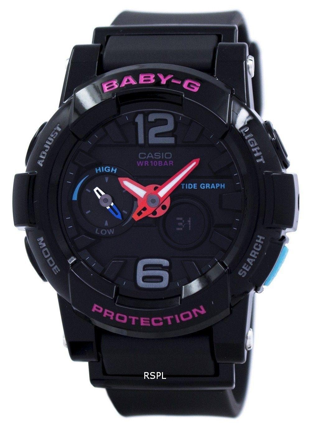 Casio Baby-G Shock Resistant Tide Graph  Analog  Digital BGA-180-1B Women s  Watch c096a2f286
