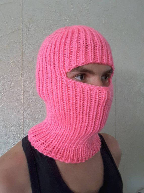 Ski mask, handknit balaclava in 2020 | Hand knitting ...
