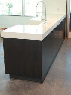 I Love Concrete Countertops We Poured This Beautiful White Countertop Using Gfrc Glass Fiber Reinforced For A Lighter More Durable