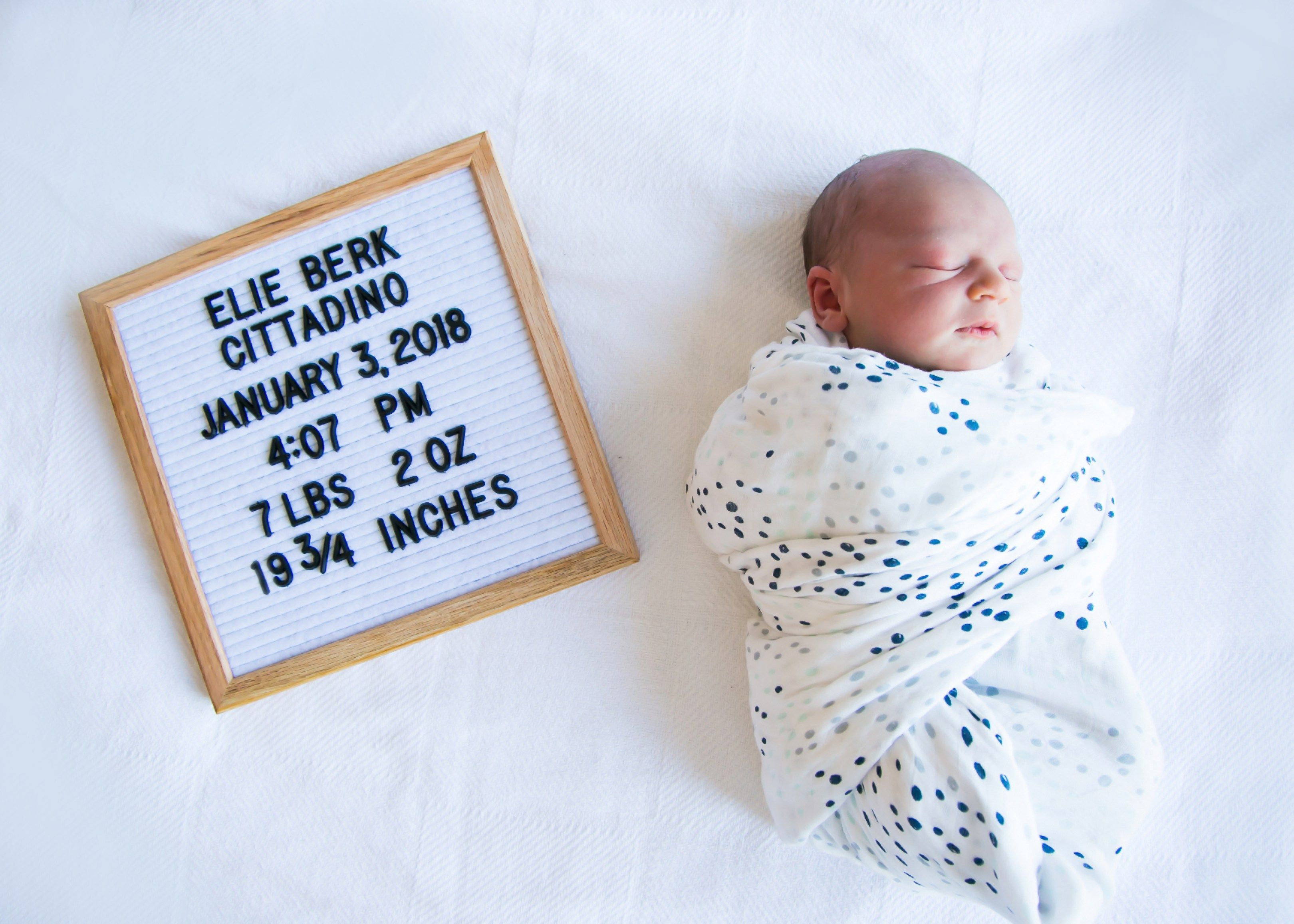 Introducing Elie Berk Cittadino Baby boy birth