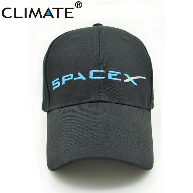 CLIMATE USA Outer Spacex NASA SPACEX SpaceX Elon Musk Logo Dragon Spaceship  Rocket Cotton Baseball Caps Hat For Adult Men Women cba698de8da