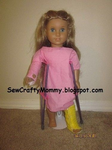 American Doll Crutches Arm Band Leg Cast And More