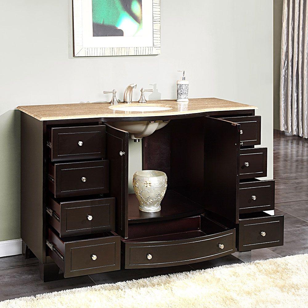 55 Inch Bathroom Vanity Single Sink | Bath Rugs & Vanities ...