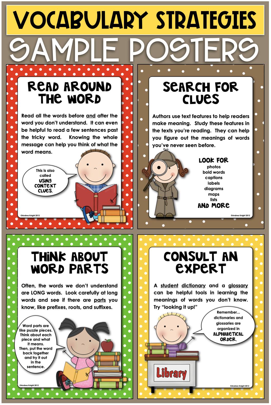 Vocabulary Activities For Primary Children