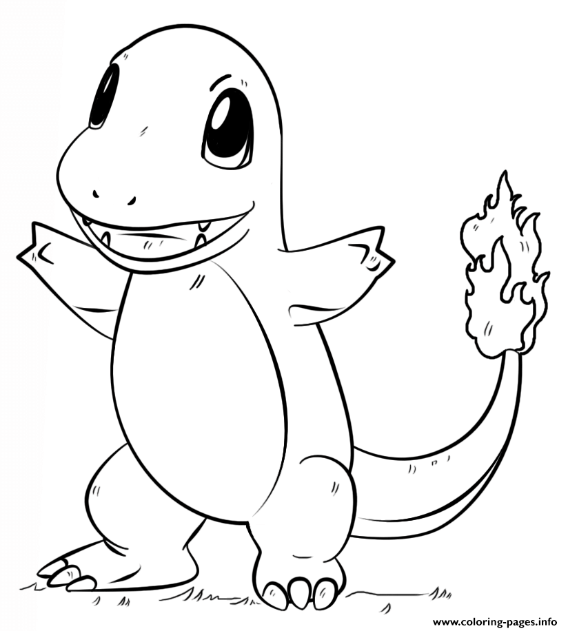 Print Charmander Pokemon Go Coloring Pages Malvorlagen