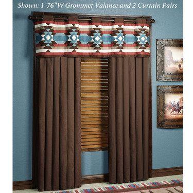 southwest window valances nextag southwest frontier grommet window treatments decor pinterest