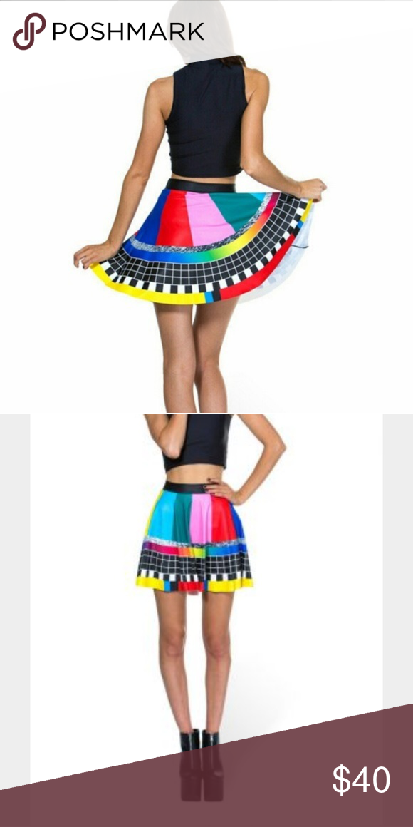 Blackmilk Stay Tuned Skater skirt Excellent condition. Limited edition no longer available size small. MMARO! Blackmilk Skirts Circle & Skater