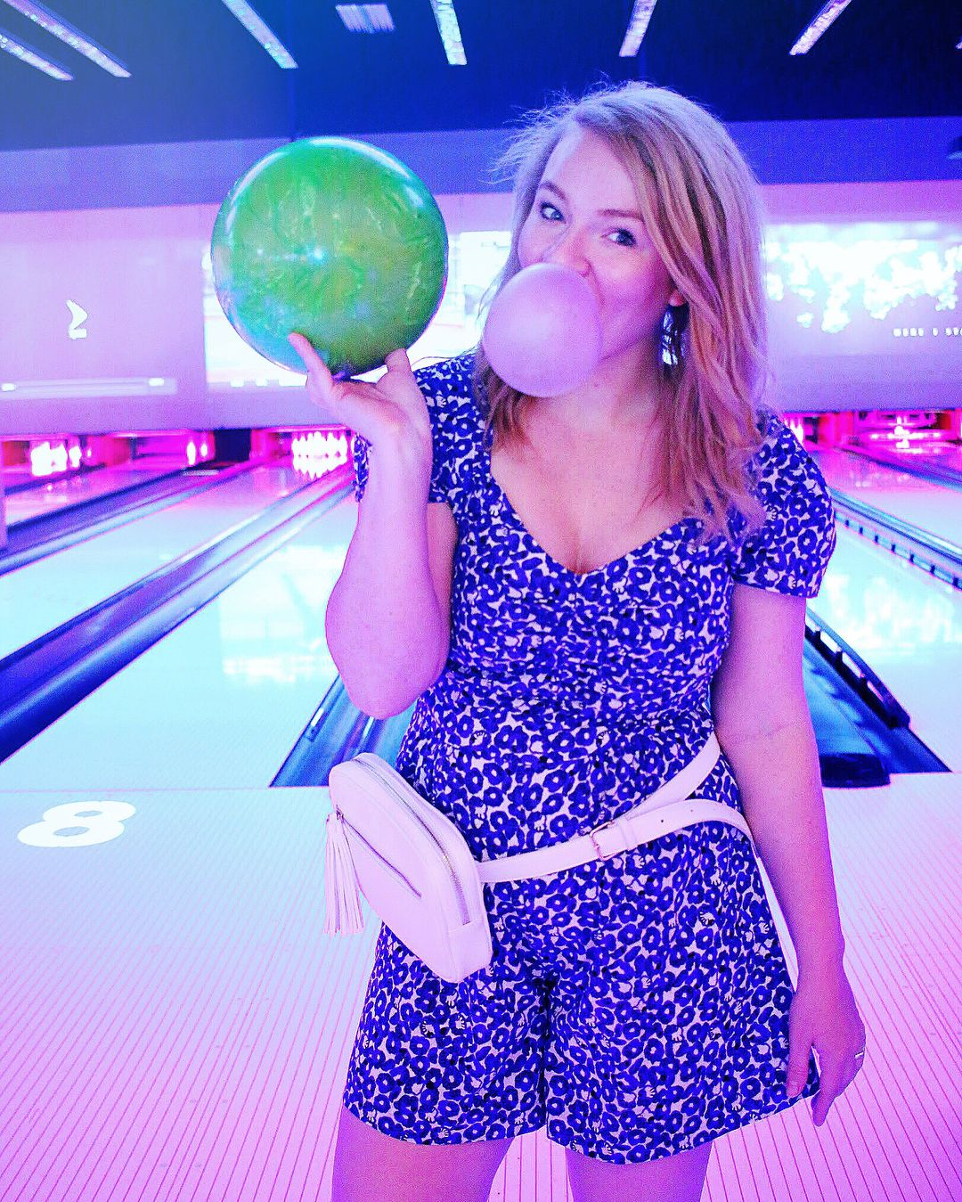 What To Wear Bowling Cute Bowling Shot Cute Bowling Photoshoot Thrifty Fashion Thrifty Style Thrift Store Fashion Thrifty Fashion Motherhood Fashion