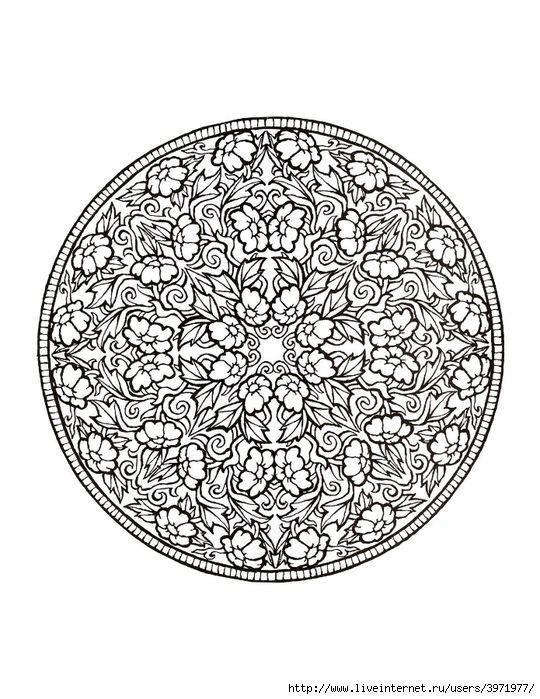 Mystical Mandala Coloring Book | Mandala | Pinterest | Mandala ...