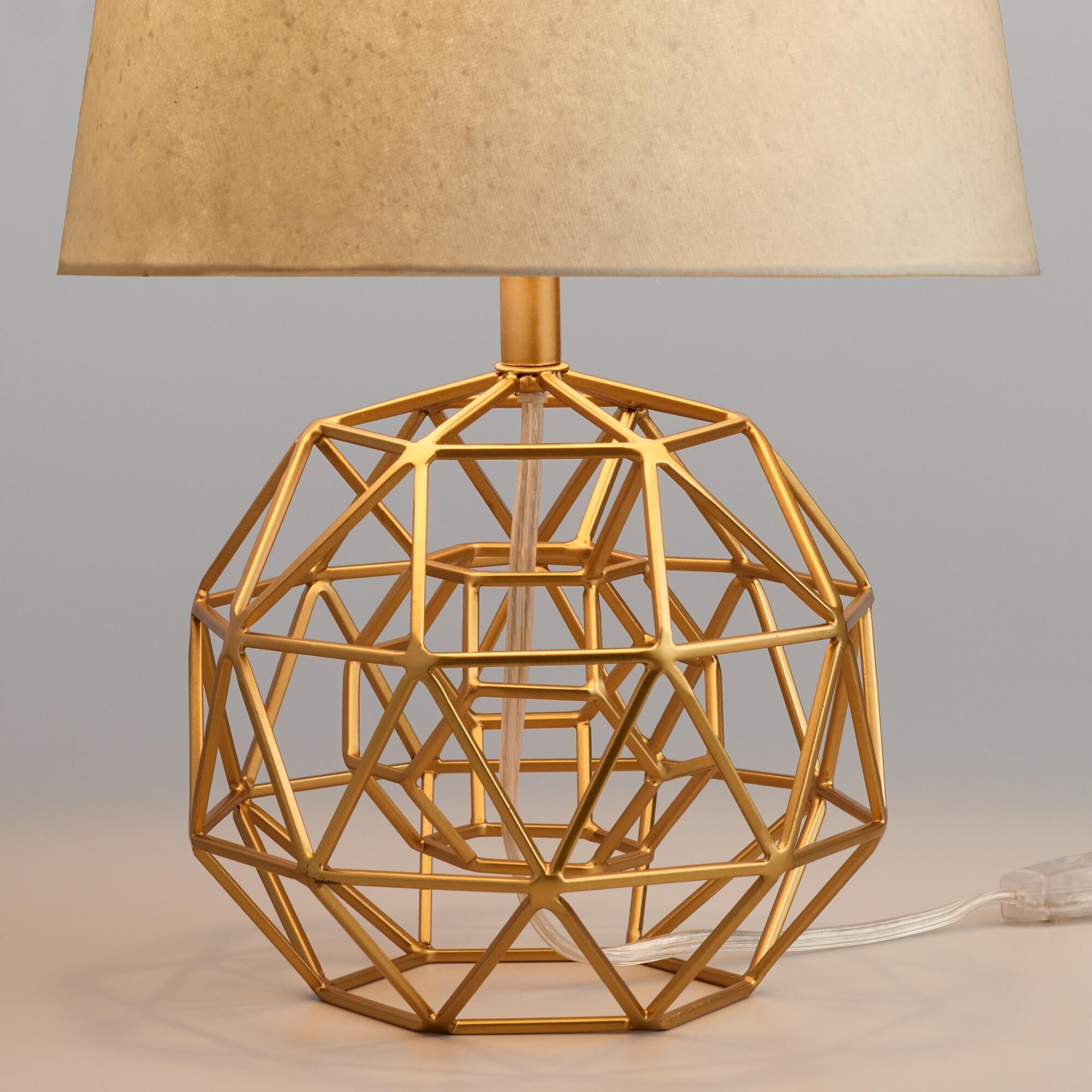 Gold Geo Globe Accent Lamp Base By World Market In 2019