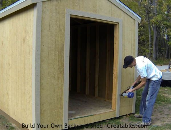 How To Install Exterior Trim Around The Shed Door Shed