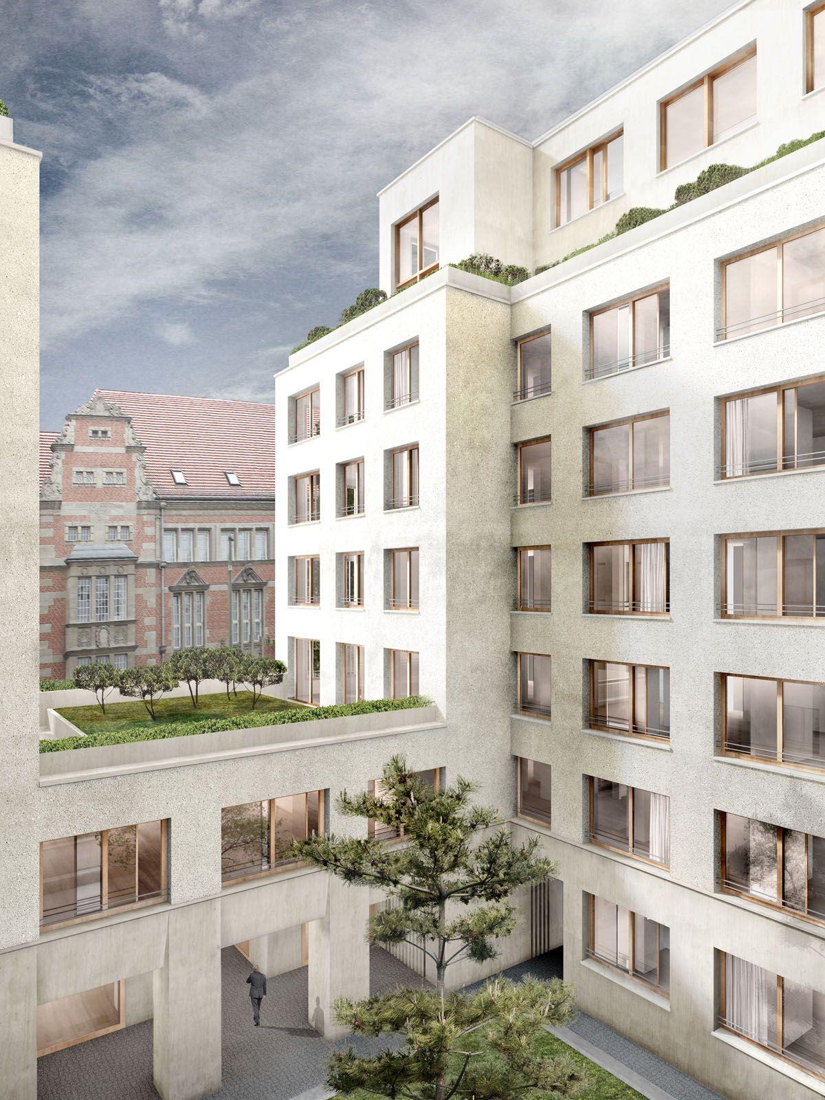 Berlin franz sische stra e palais varnhagen innenhof david chipperfield architects - Architekturvisualisierung berlin ...