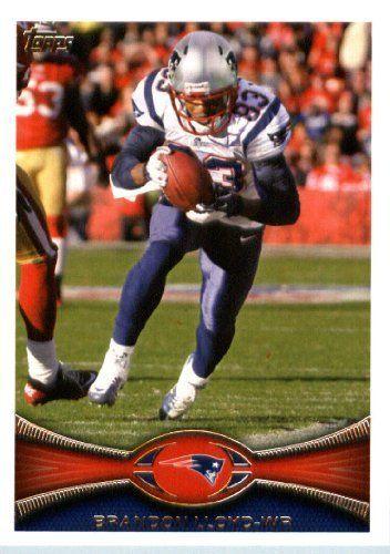 2012 Topps Football Card #17 Brandon Lloyd - New England Patriots (NFL Trading Card) by Topps. $1.97. 2012 Topps Football Card #17 Brandon Lloyd - New England Patriots (NFL Trading Card)