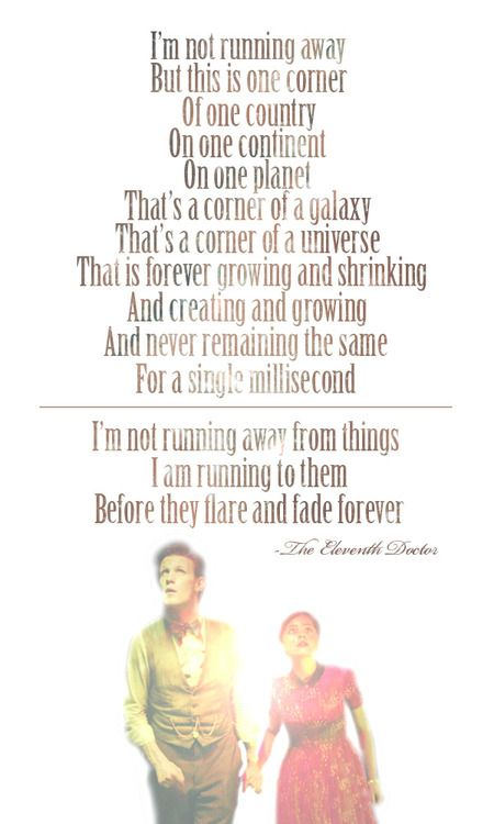 The Eleventh Doctor quote. He may be my absolute least ...