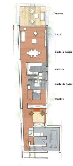 Plan du0027une maison sur une terrain en longueur Construction - prix de construction d une maison