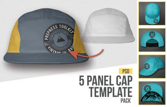 The Best 7 Photo Real Hat And Cap Templates Ever Created Mockup Design Templates Five Panel Hat