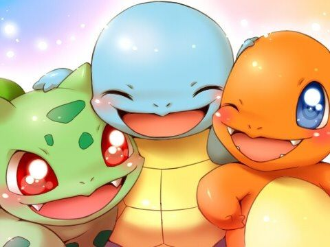 The trio!!  Bulbasaur, Squirtle and Charmandar!!