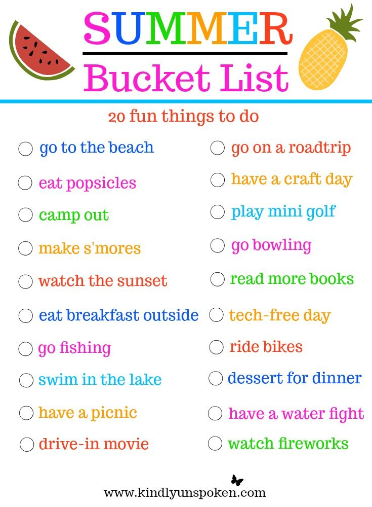 summer bucket list 20 fun must do activities all things summer summer bucket lists summer. Black Bedroom Furniture Sets. Home Design Ideas