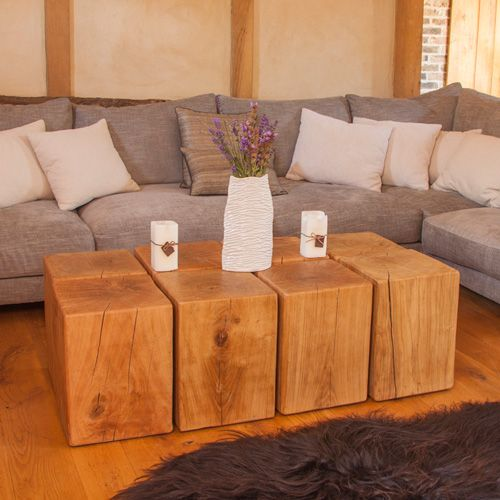 We Love This Chunky Oak Coffee Table Made From Eight Blocks Of Solid Simply Pushed Together Portwoodstudio