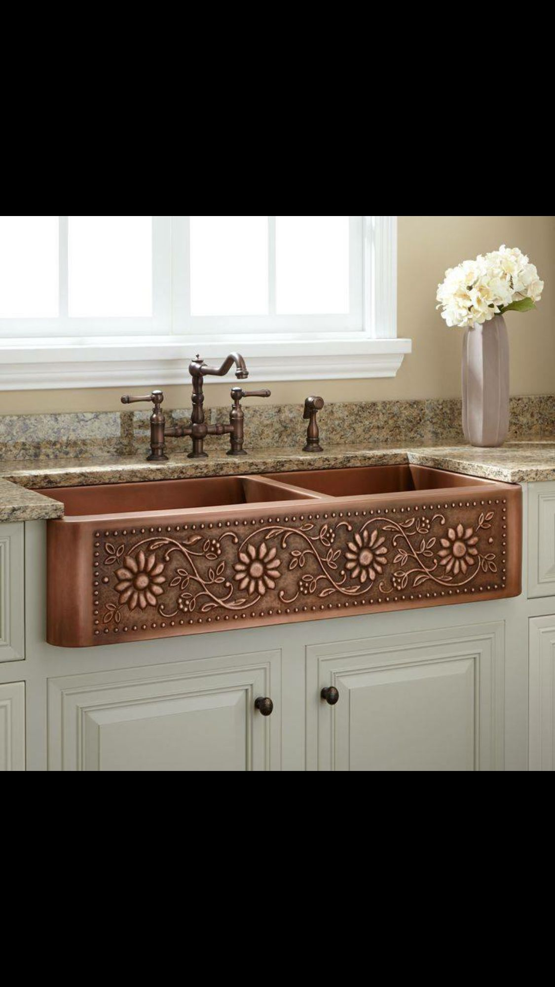 So pretty (With images) Copper farmhouse sinks