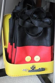 Mickey favor bags (felt and buttons)