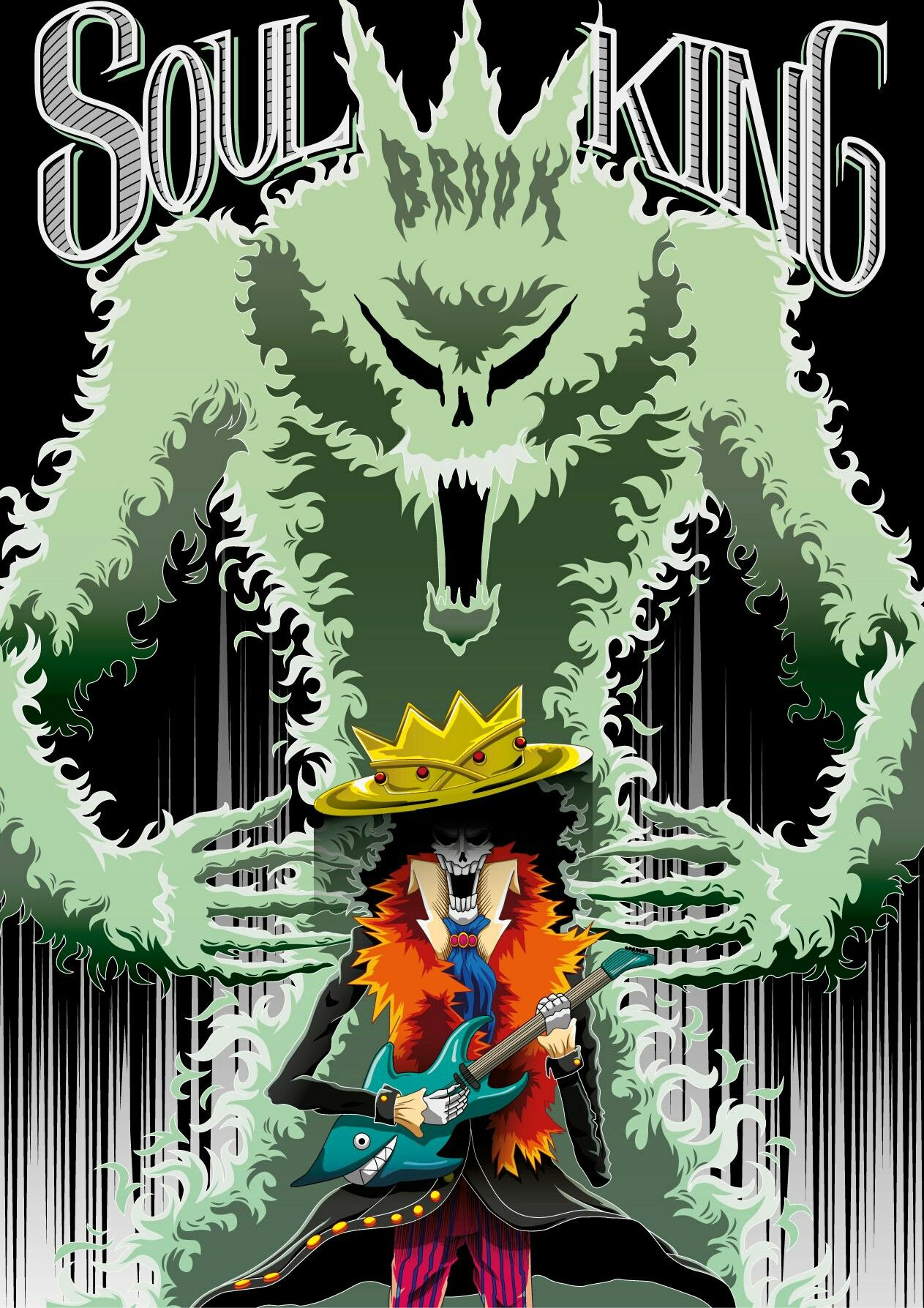 soul king rocks one piece one pi232ce manga anim233