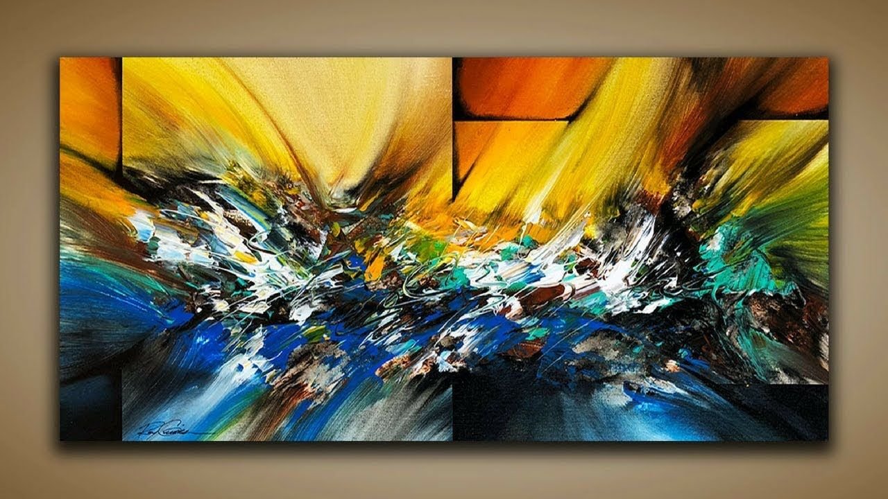 Abstract painting demo 65 abstract art how to paint