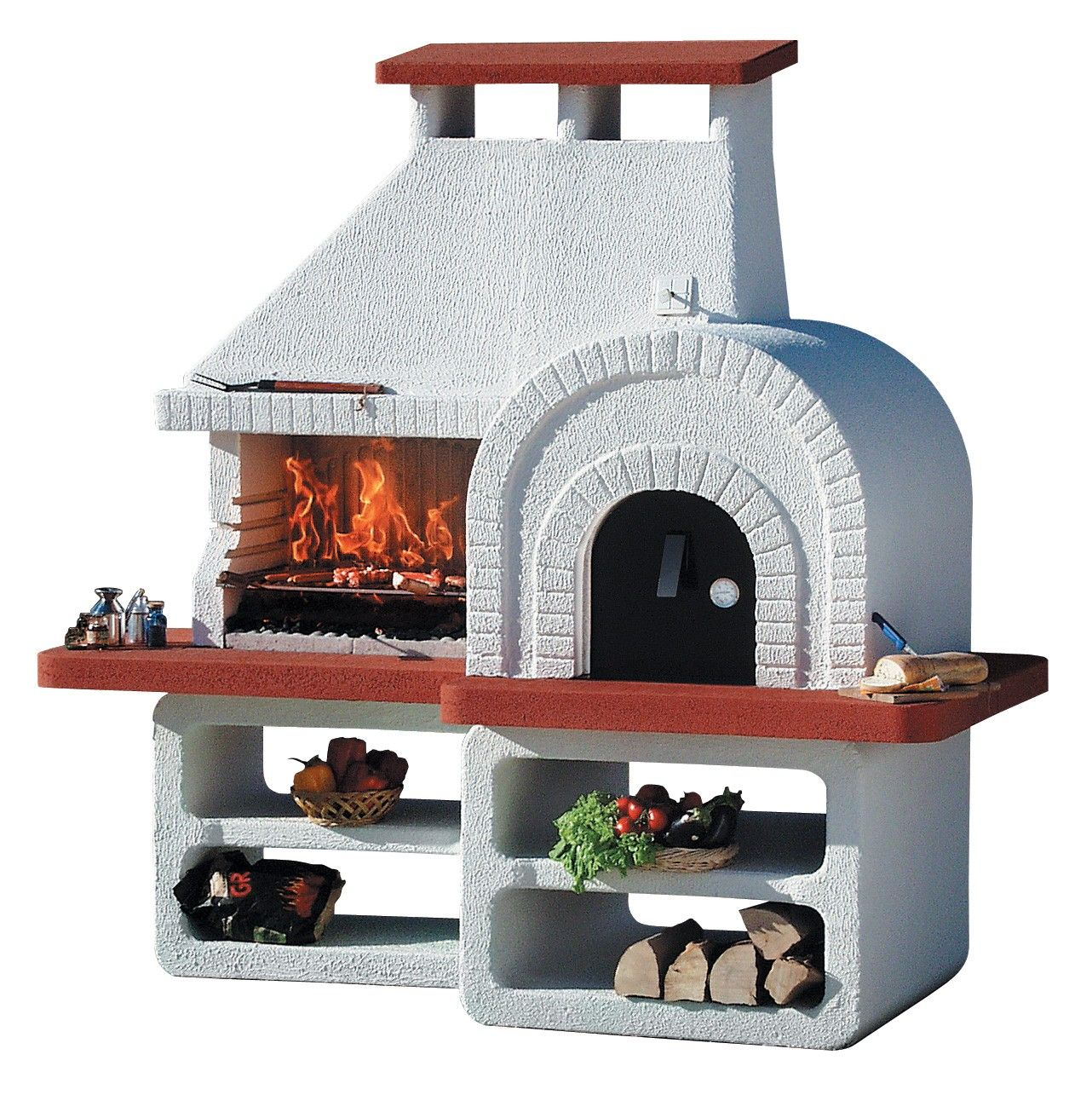 Wood Pizza Oven Charcoal Bbq Grill Combo Outdoor