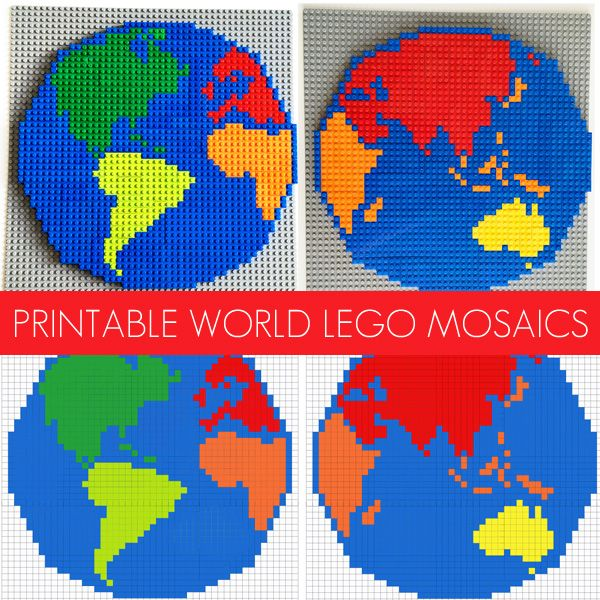 Lego activity ideas world mosaic patterns lego mosaic and geography lego activity ideas world mosaic patterns gumiabroncs Image collections