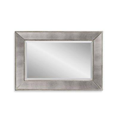 Bassett Mirror Company Antique Beaded Mirror In Silver Framed Mirror Wall Beaded Mirror Antique Mirror Wall