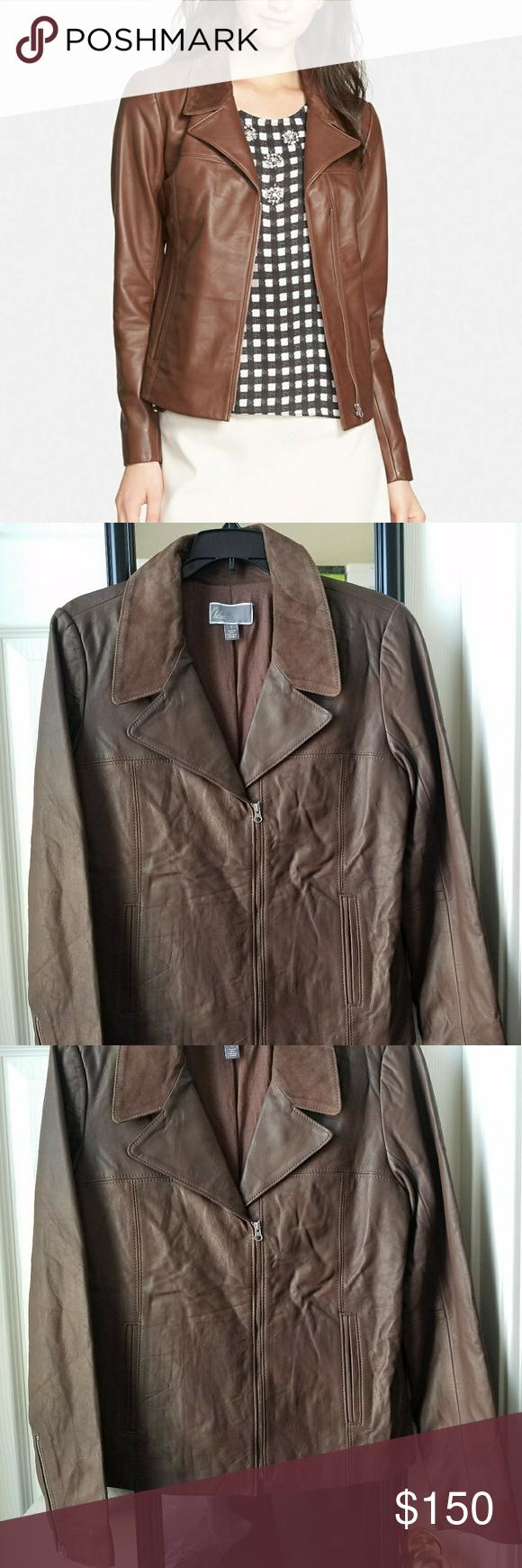 Chelsea28 Suede Lapel Zip Front Leather Jacket Leather Jacket Clothes Design Jackets [ 1740 x 580 Pixel ]