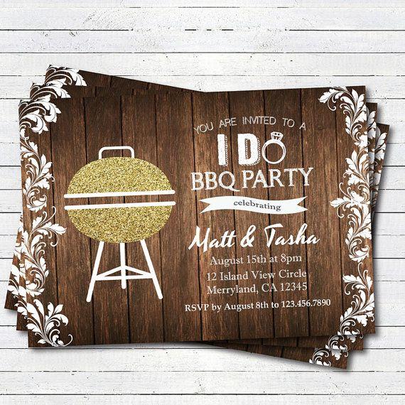 Bbq Wedding Reception Ideas: I Do BBQ Invitations For Weddings, Engagement Parties