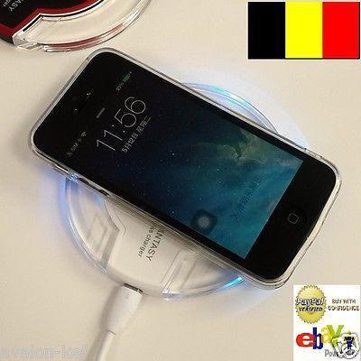 Chargeur Sans Fil Qi Luxe Pad Pour Iphone 6 Plus 6 5s 5c 5 4s 4 Avec Adaptateur