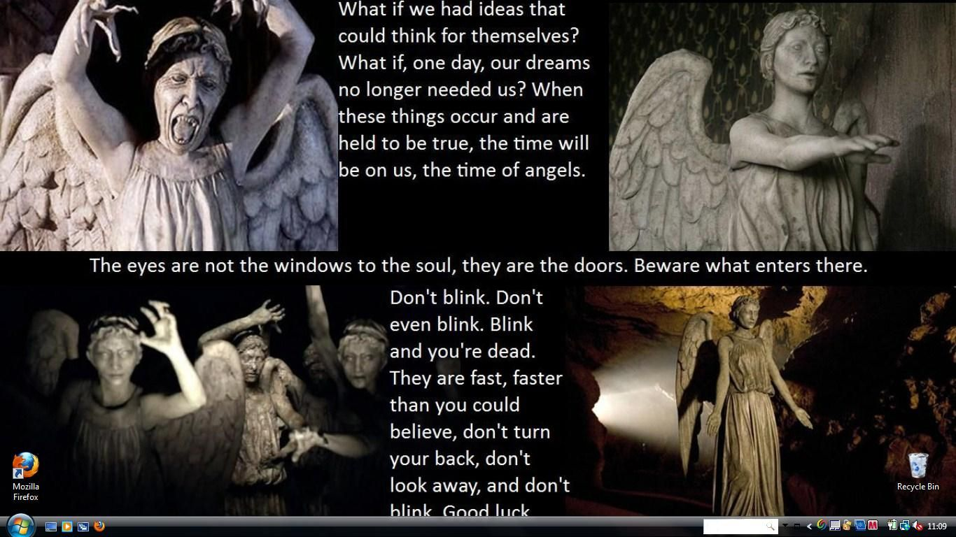 doctor who weeping angels wallpaper images