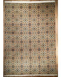 Semi-antique Persian Kashan Area Rug 1085 - Area Rug