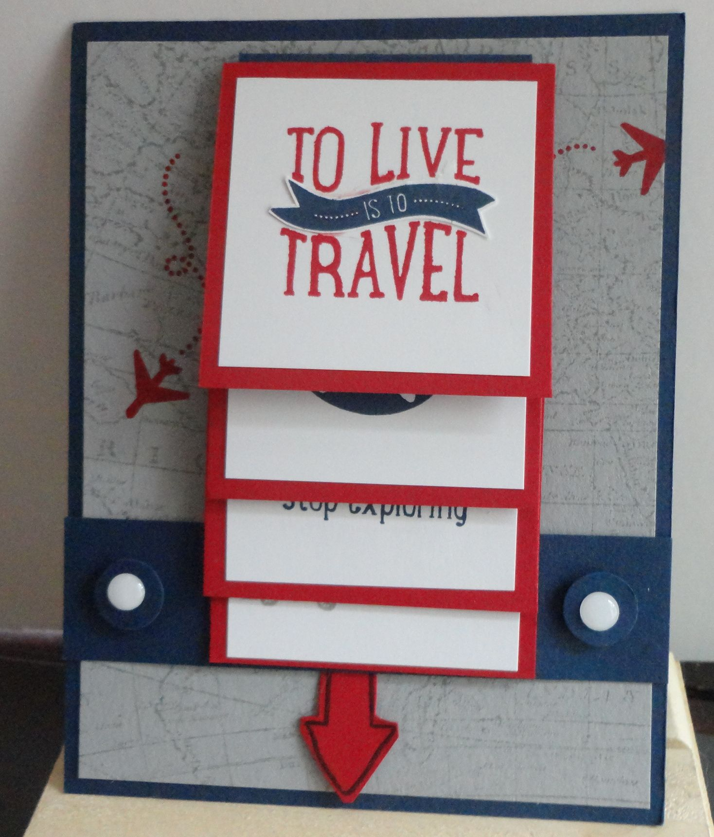 Project Life Let's Get Away - makes a perfect waterfall card. Stampin' Up!