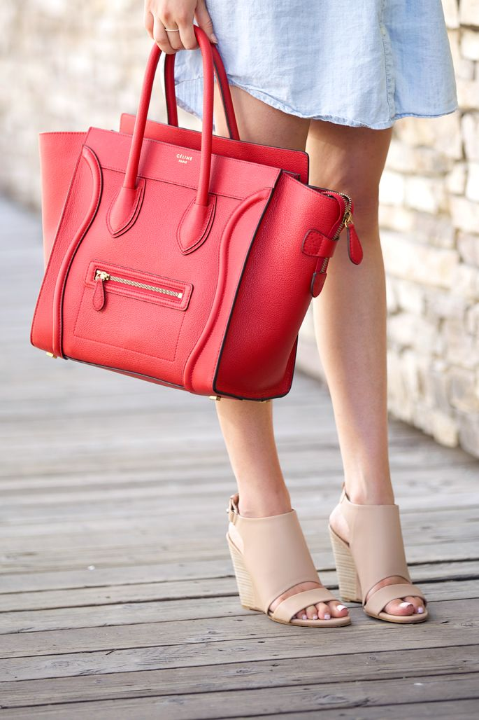 2569a45eaf red-celine-mini-luggage-tote-bag
