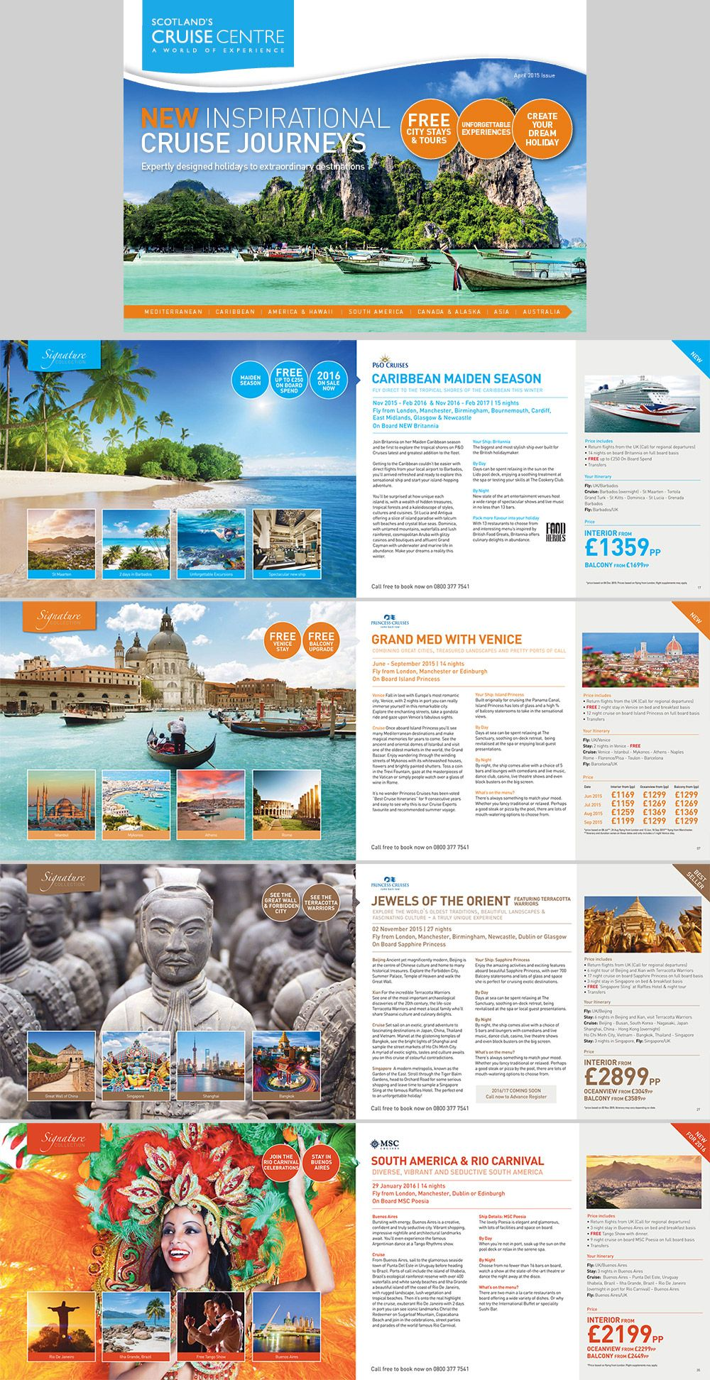 Travel And Tourism Brochure  Caribbean Beach  Edit Text