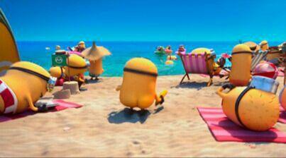 Minion beach party