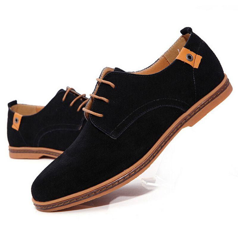 Shoes Men's Casual Shoes Lace-up Flat Loafers Deck Shoes Fashion Leather Sneakers (Color : Plus Velvet Size : 43)