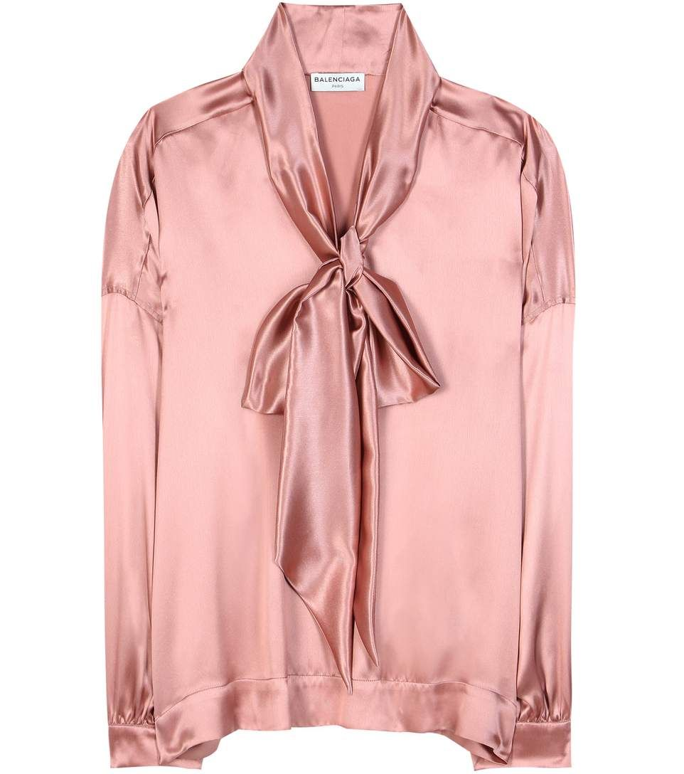 4a663709fcc0c BALENCIAGA Satin Silk Blouse.  balenciaga  cloth  tops
