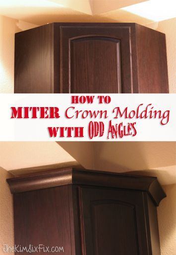 How To Miter Crown Molding at ANY Angle | Kitchen cabinet ...