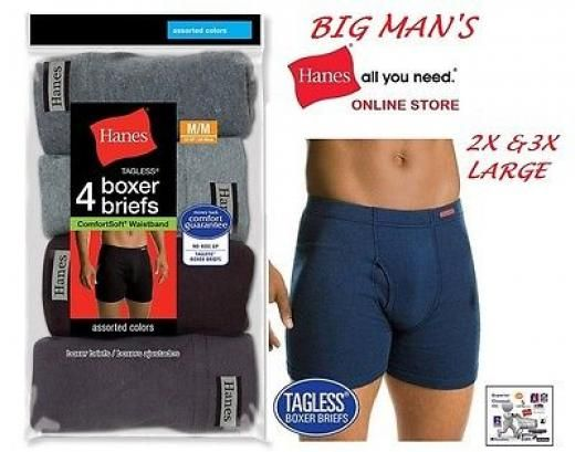 Hanes 4 pack boxer briefs size  3XL